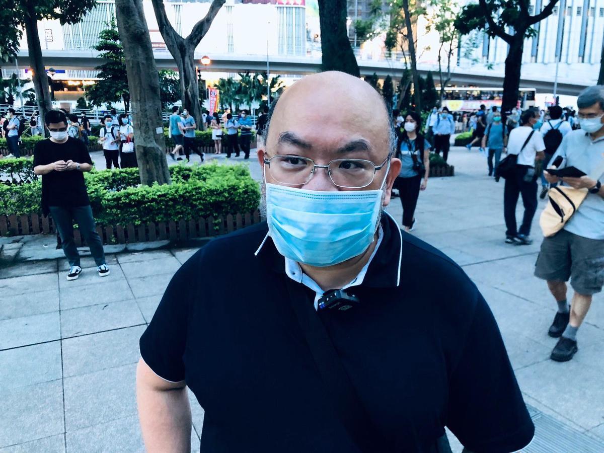 蔡子強表示,「香港是在神州大地唯一可以舉行六四集會的地方,因此『一國兩制』表示,在香港可以做在國內做不到的事,這就是香港的獨特之處。」(梁珍/大紀元)