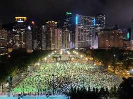 香港維園六四悼念如期舉行 全港遍地開花