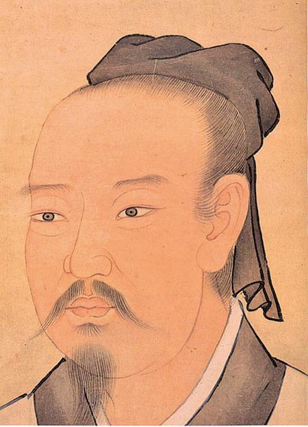 晉太保建昌公謝安,清宮殿藏畫本(公有領域)