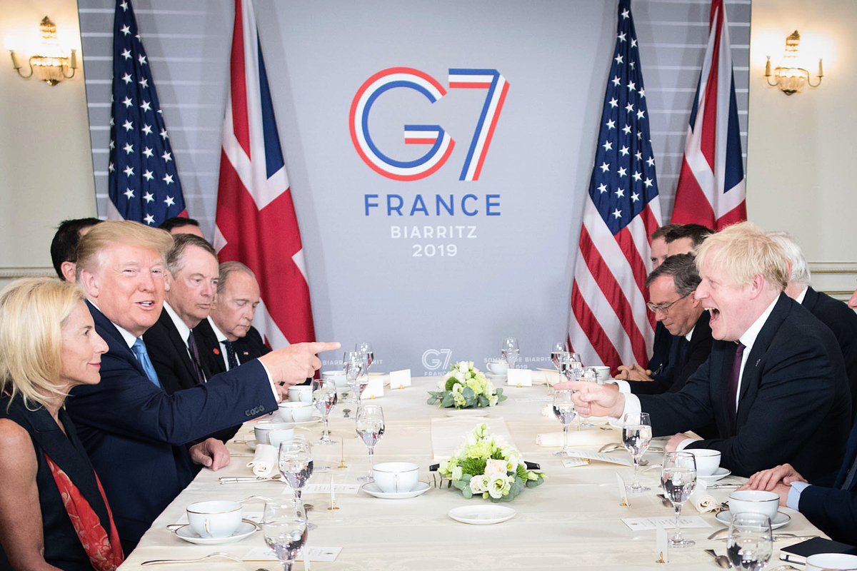 美國總統特朗普6月3日為邀請俄羅斯重新參加七國工業集團(G7)峰會。圖為各國領導人在去年的G7峰會上(Stefan Rousseau - Pool/Getty Images)