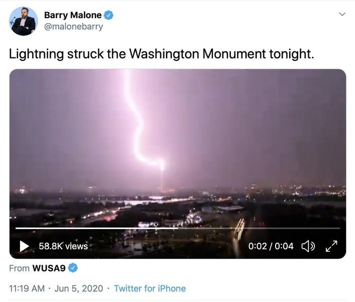 美31年來首公開悼六四  華盛頓電閃雷鳴