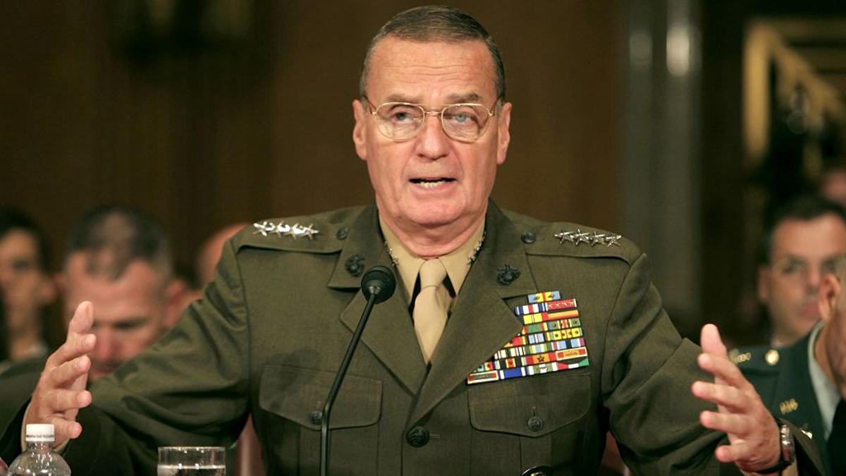 美國前總統國家安全顧問、退役四星將軍詹姆斯.瓊斯日前表示,美國正在歐洲積極推動「三海合作」倡議,以取代中共的「一帶一路」計劃。資料圖(Chip Somodevilla/Getty Images)