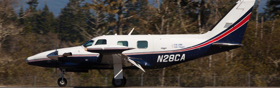 圖為Cal-Ore一架醫療運輸機。(Cal-Ore Life Flight網頁圖片)