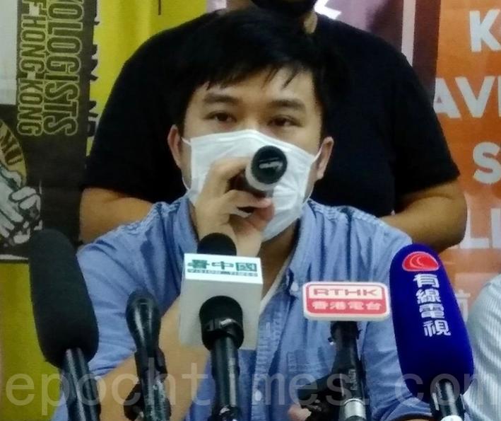 香港資訊科技界工會主席鄧卓文(杜夫/大紀元)