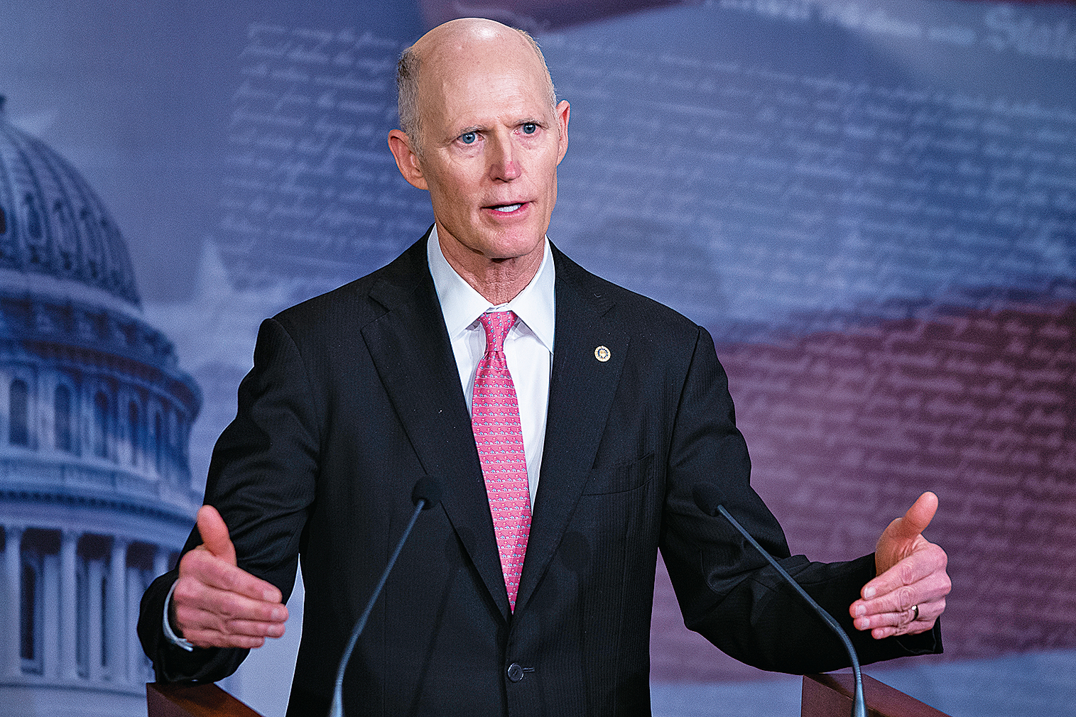 美國參議員斯科特(Rick Scott)表示,中共企圖阻止美國等西方國家開發疫苗。(AFP)