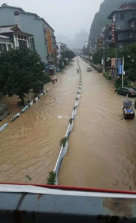 朔縣城被淹沒。(微博網友)