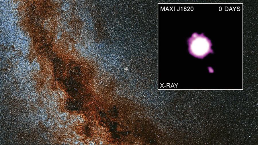 新錄像記錄黑洞近光速噴發