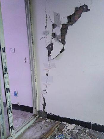 青雲寨,因房屋質量問題成了危樓。(受訪者提供)