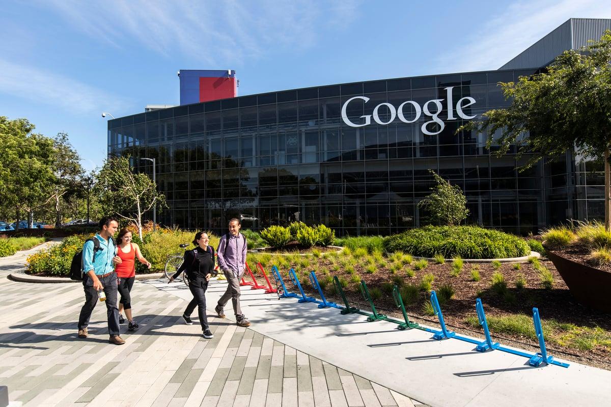Google在加州Mountain View的總部園區。(大紀元資料室)