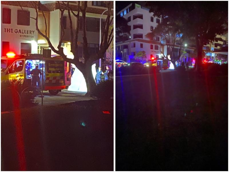 一中國女留學生在澳大利亞墜樓身亡。圖為事發現場。(受訪者提供)