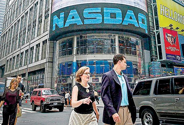 美國納斯達克股票交易所。(Getty Images)