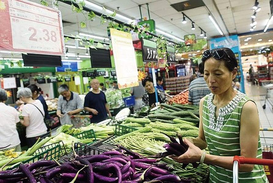 陸農產品價格上漲 豬肉漲3.8%