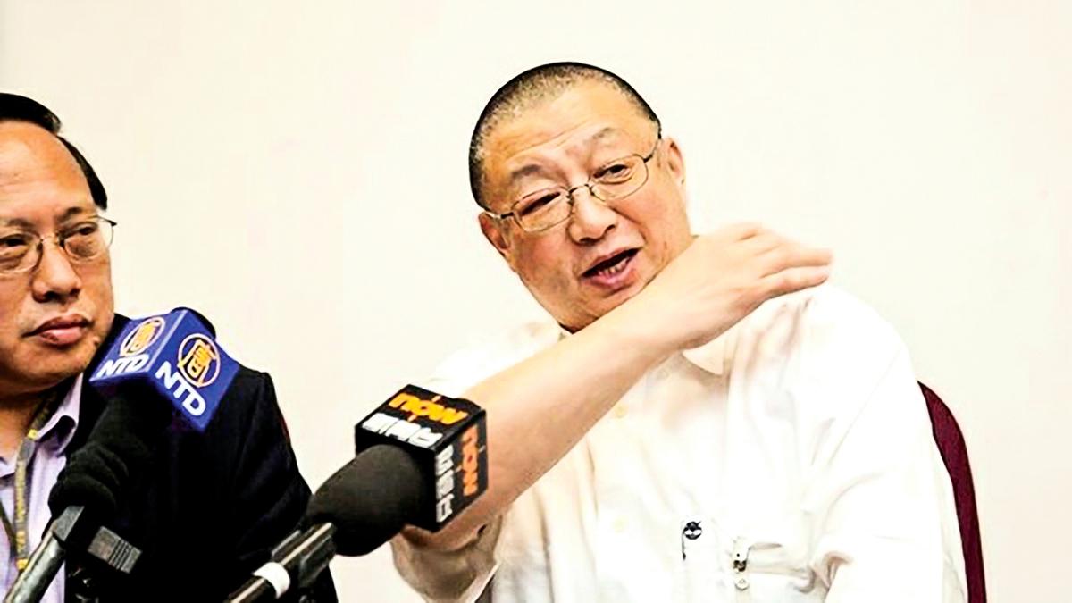 香港陽光衛視創辦人陳平(右)。(大紀元)