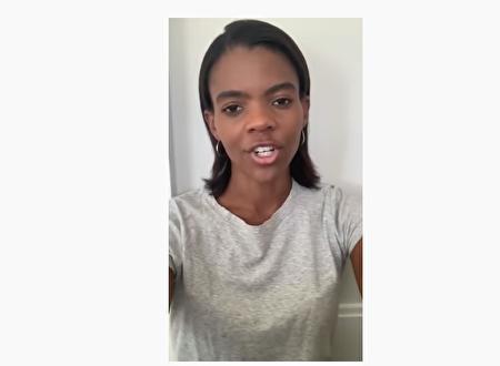 非裔保守派活動家Candace Owens在youtube上大膽評論目前的遊行。(影片截圖)