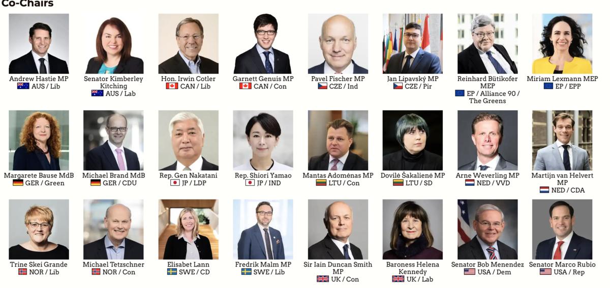跨國議會對中政策聯盟的聯合主席。(圖:IPAC官網)