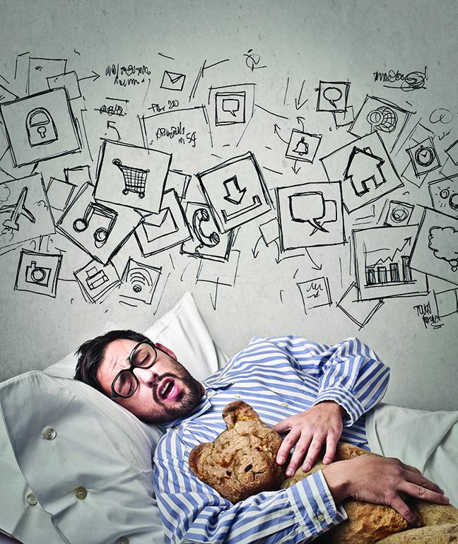 在睡夢中,由於防衛作用減弱,原本壓抑的感受得以浮現。