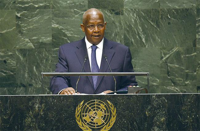 何志平為協助中資能源公司獲取烏干達的商業利益,與前聯合國大會主席、現任烏干達外長庫泰薩(圖)拉關係,把50萬美元電匯到庫泰薩指定的帳戶。(AFP)