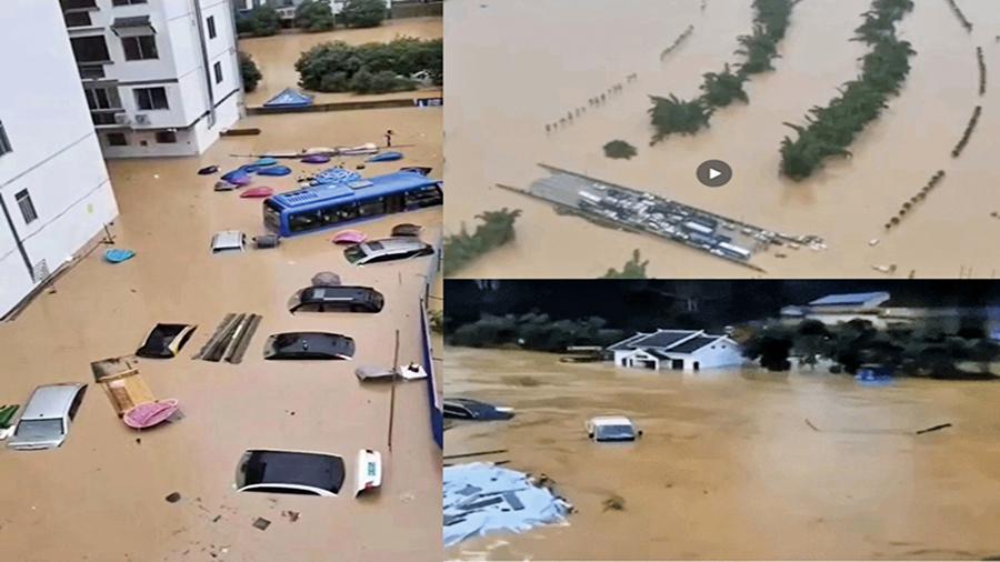 南方暴雨 11省262萬人受災 兩廣遇最強降雨 民眾:大水淹過2層樓高