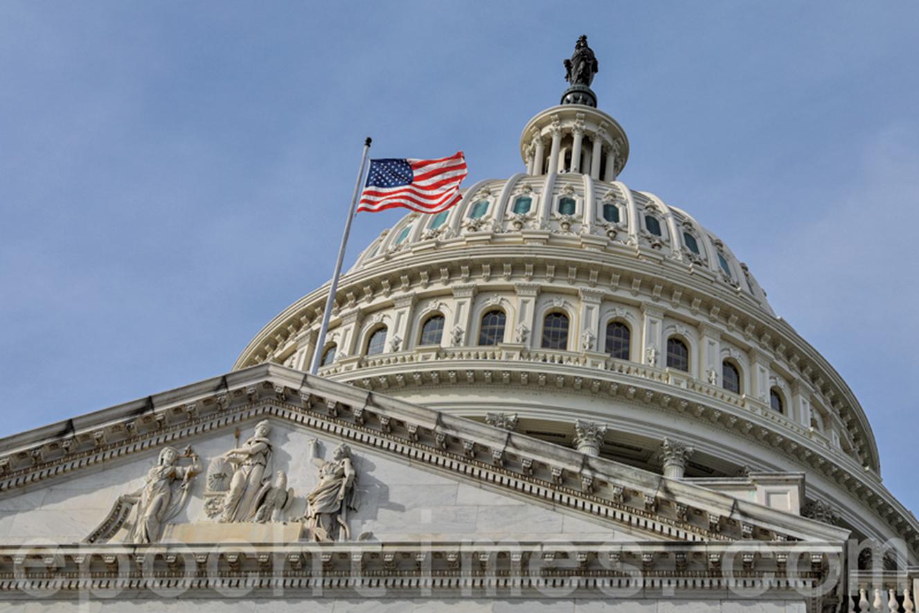 共和黨研究委員會發佈一份報告,制裁中共統戰部最高級別的官員。圖為美國國會,拍攝於2020年1月2日。(大紀元)