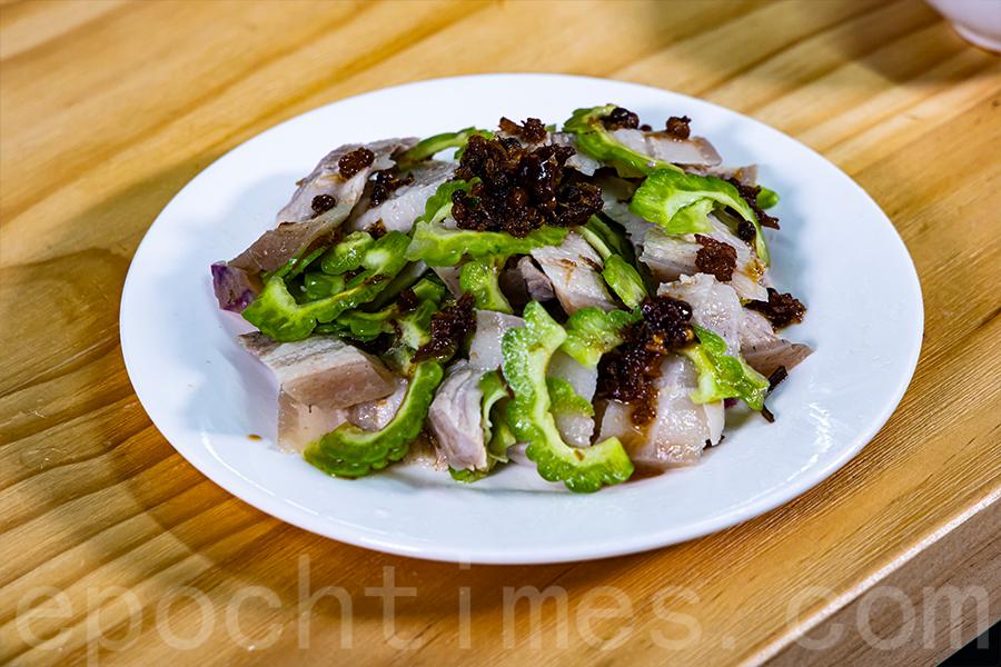 全新菜式「麻辣XO涼拌濟州黑毛豬腩」。(陳仲明/大紀元)