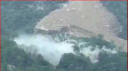 三峽大壩山體滑坡。(圖:推特視頻/冷山時評)