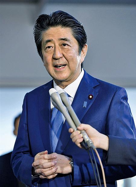 日本首相安倍晉三,在香港問題打破以往的沉默,多次高調表態與盟國美國同樣的立場。(中央社)