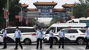 組圖:北京突爆中共病毒疫情 武警進駐 氣氛緊張