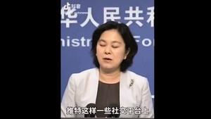 華春瑩承認中共在推特放五毛 49秒發言眨眼55次