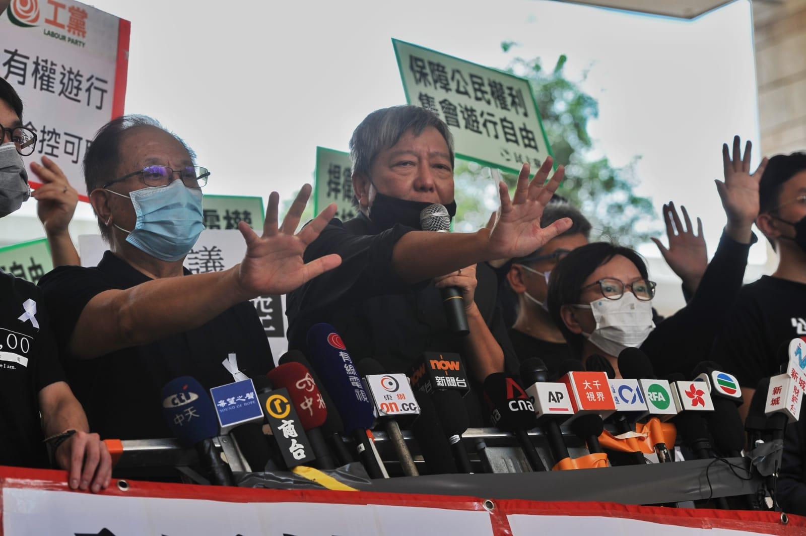 15名民主派人士被控涉嫌在去年8月及10月的反《逃犯條例》修訂大遊行中涉及煽惑、組織及參與未經批准集結等罪名。(宋碧龍 / 大紀元)