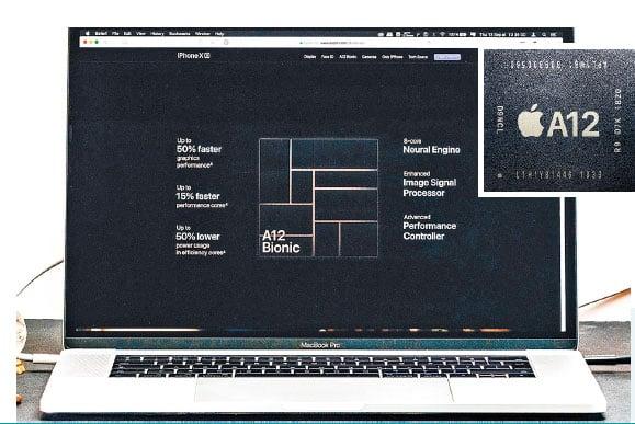 大圖:iPhone XS and XS Max所使用的A12處理器,各種性能已經接近英特爾的流動裝置用處理器。(Shutterstock)小圖:iPhone XS and XS Max所使用的A12處理器。(Apple)