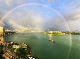 本港多區驚現雙彩虹  網民:「吉兆,天佑香港!」