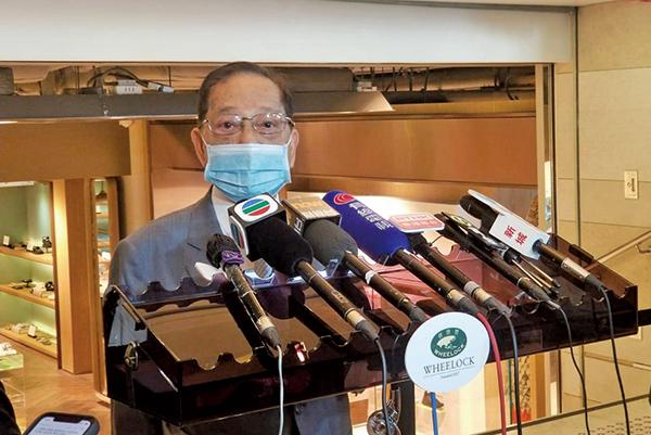 會德豐副主席梁志堅表示,現階段未能透露公司私有化後人事變動等問題。(李曉彤/大紀元)