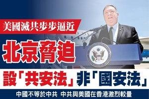 北京脅迫 設「共安法」非「國安法」