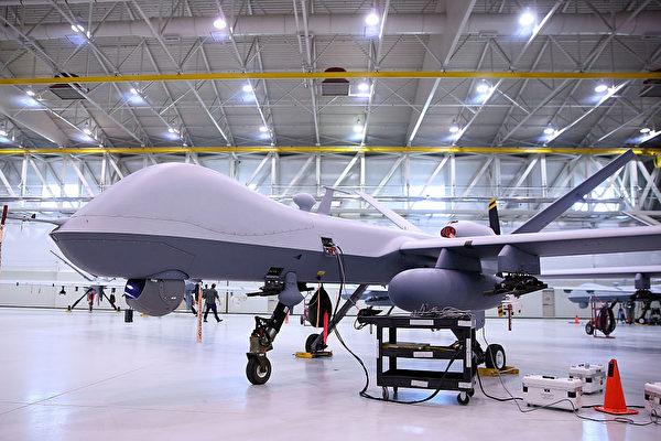 特朗普政府將更改一項武器協議,擴大美國無人機向更多國家出售。專家分析,出口對像包括台灣。圖為美國無人機MQ-9(Reaper)。(Isaac Brekken/Getty Images)