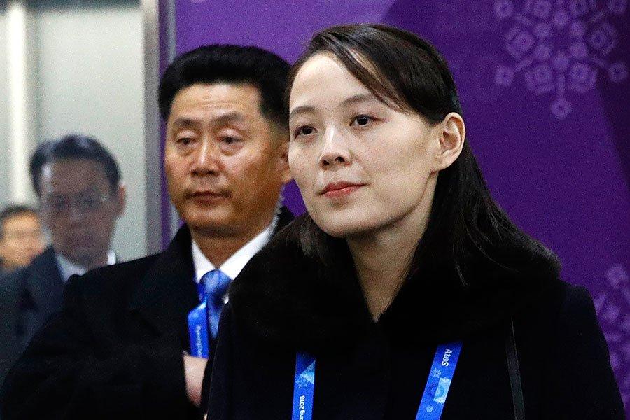 6月16日,北韓金與正下令炸毀開城工業區的韓朝聯絡處大樓。(PATRICK SEMANSKY/AFP/Getty Images)