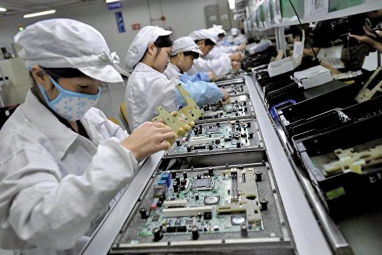 瑞士銀行調查顯示,病毒大流行促使許多製造商將供應鏈移出中國,有高達7,500億美元出口額將會重置。(AFP)