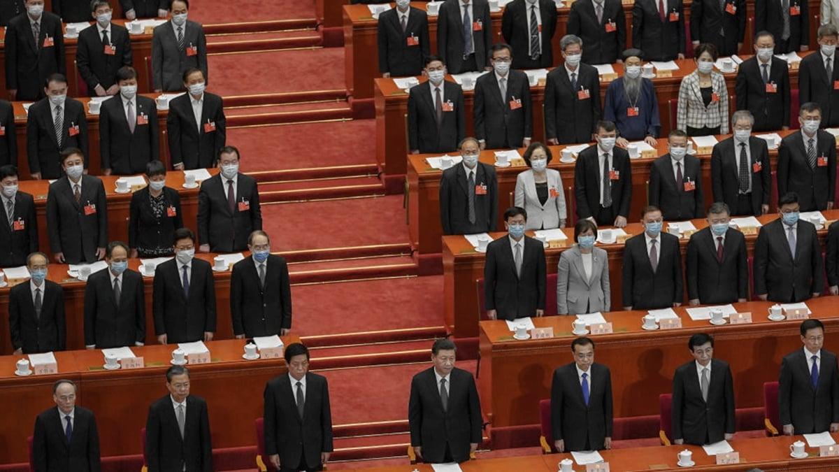 中共當局在兩會期間通過了港版國安法草案。(Andrea Verdelli/Getty Images)