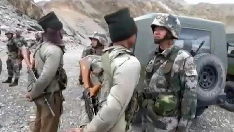 中印軍方近來在克什米爾邊境對峙,2020年6月15日鬧出人命。示意圖(影片截圖)