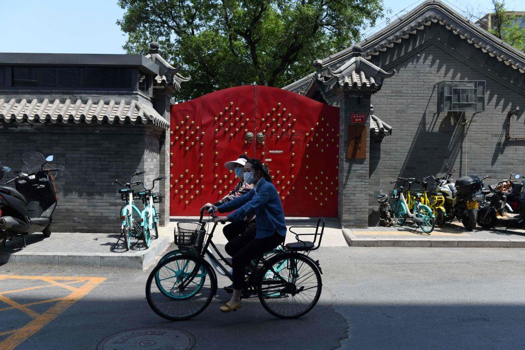 幾個月了,北京仍然對小區採取封閉管理。(GREG BAKER/AFP via Getty Images)