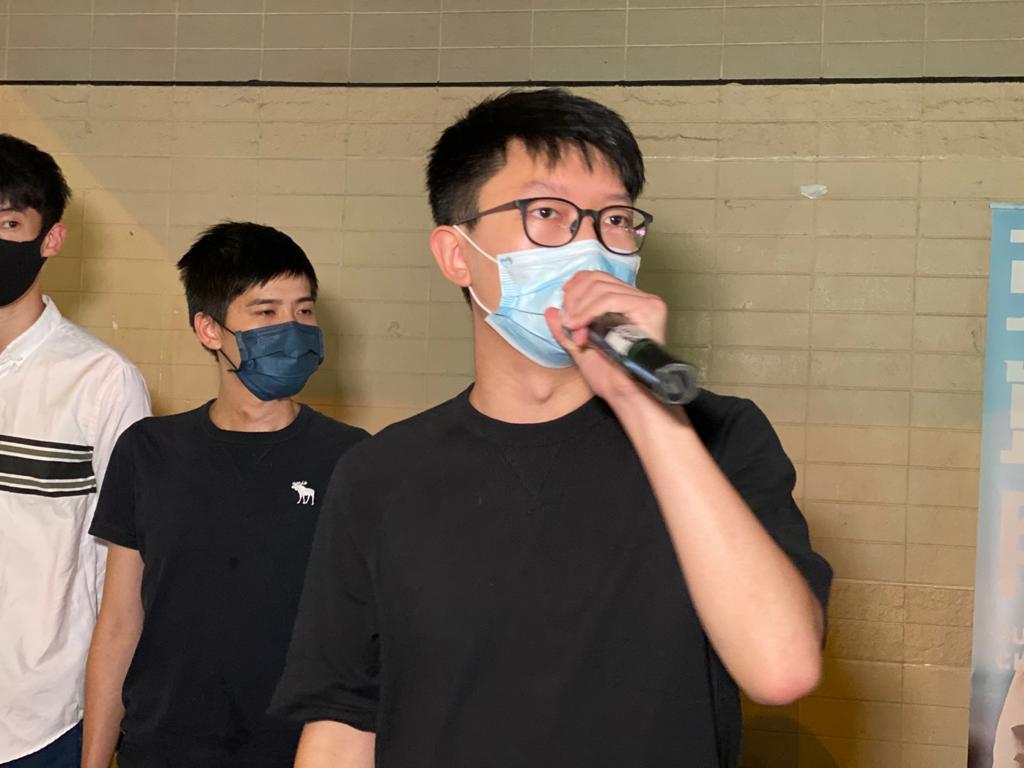 張崑陽今日(6月18日)宣佈,將正式參選立法會民主派在九龍西的初選。(霄龍 / 大紀元)
