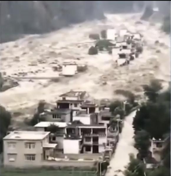 【一線採訪】四川丹巴遭遇百年不遇泥石流 沿途兩個村莊被夷為平地