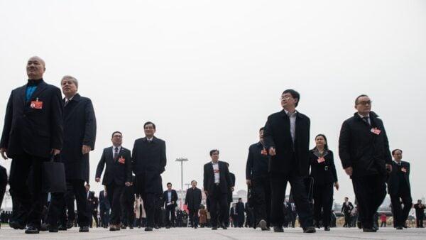 中共有一個規模龐大的特權階層,他們的退休待遇全球罕見。示意圖(FRED DUFOUR/AFP via Getty Images)