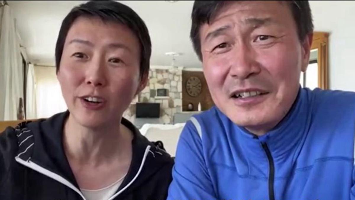 郝海東和妻子日前接受港媒採訪時說,去年他們在香港親身感受了反送中抗爭運動。(影片截圖)