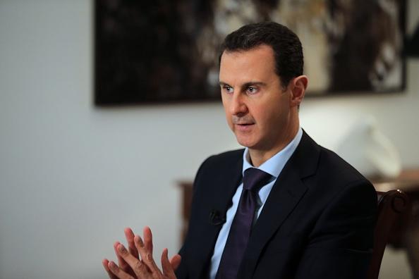 敘利亞總統阿薩德(Bashar al-Assad)。 (JOSEPH EID/AFP via Getty Images)