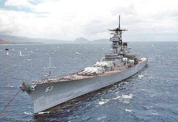 █ 停泊在夏威夷珍珠港的密蘇里號戰艦。(U.S. Navy/Getty Images)