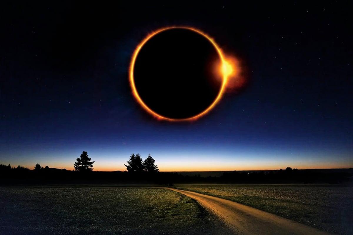 中國史書對日蝕都有嚴謹的紀錄。圖示為日環蝕,在一地平均要幾百年才得一見。 (pixabay)