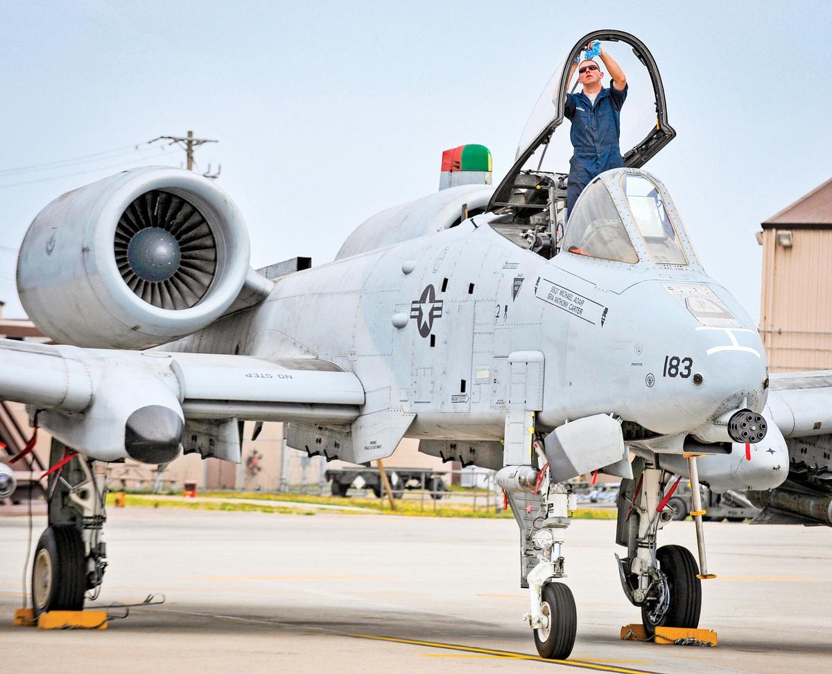 韓國烏山空軍基地是美軍東北亞最重要的前進基地之一,圖為烏山基地部署的A-10攻擊機。(KIM JAE-HWAN/AFP via Getty Images)