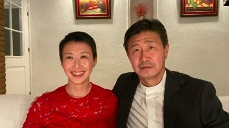 中國前足球名將郝海東夫婦日前再度發聲,披露他們為甚麼要發聲討共,以及兒子被解約的內情。圖為郝海東夫婦6月4日接受影片採訪。(影片截圖)