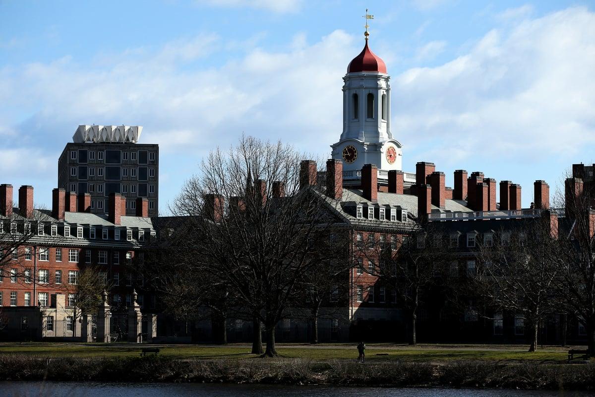2020年四月,哈佛大學外景。(Photo by Maddie Meyer/Getty Images)