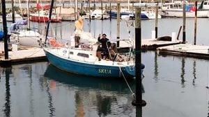 從葡萄牙駕小船 阿根廷水手85天橫渡大西洋探親